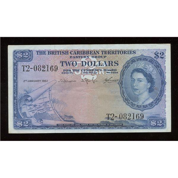British Caribbean - 1962 British Caribbean Territories $2