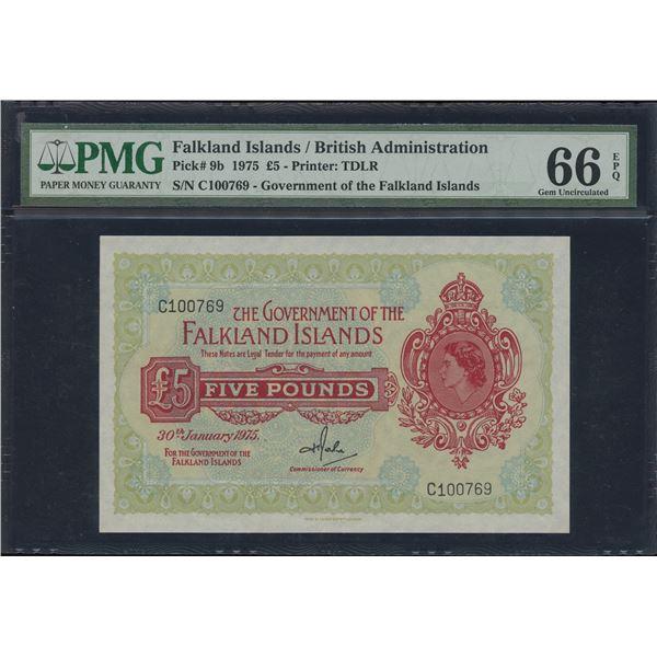 Falkland Islands - 1975 Five Pounds