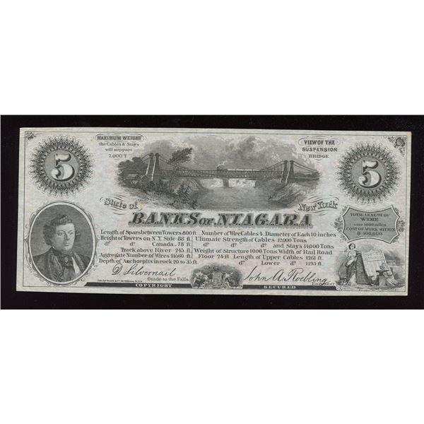 Banks of Niagara - Niagara, Falls, NEW YORK Advertising Note