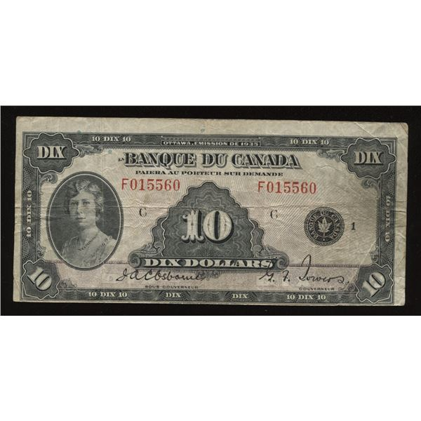 ERROR - Bank of Canada $10, 1935 French