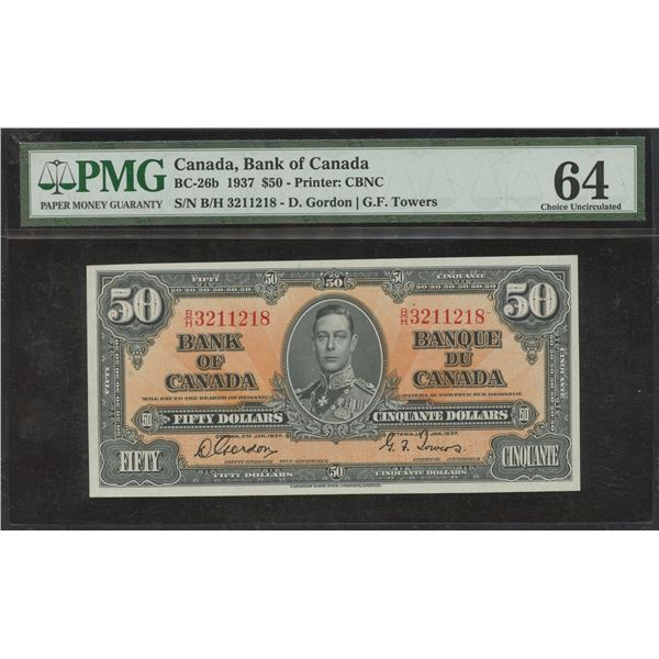 Bank of Canada $50, 1937
