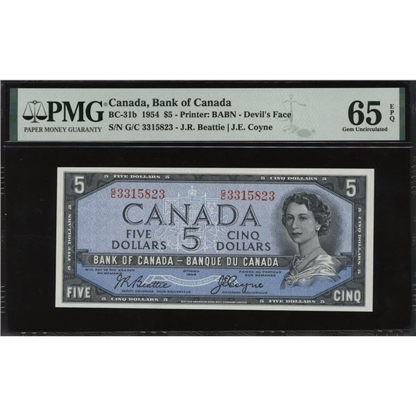 Bank of Canada $5, 1954 Devil's Face