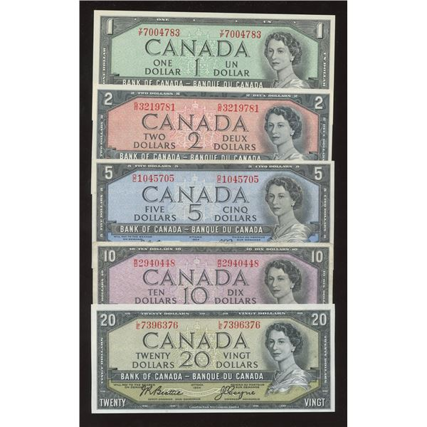 1954 Bank of Canada $1 - $20 Mini Set