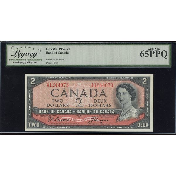 Bank of Canada $2, 1954 Transitional Prefix