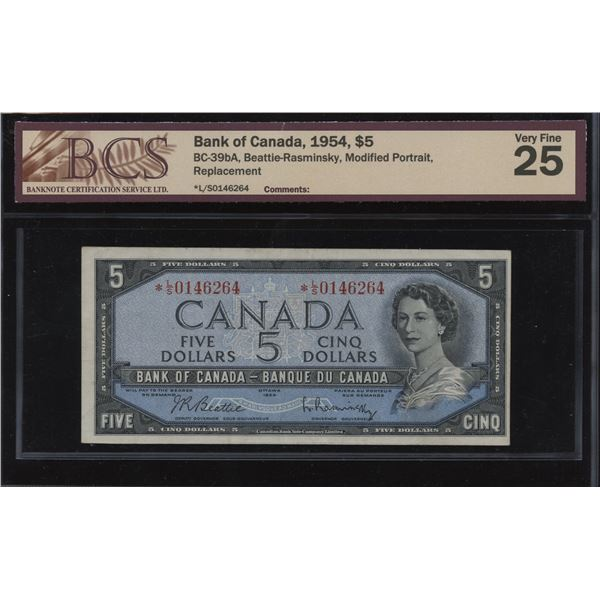 Bank of Canada $5, 1954 Replacement