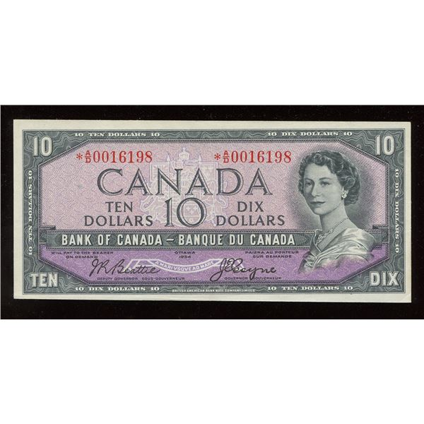 Bank of Canada $10, 1954 Replacement