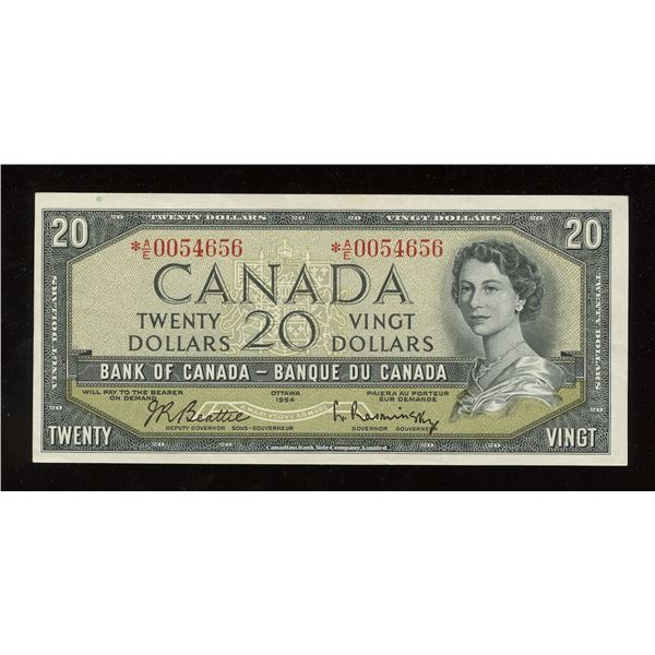 Bank of Canada $20, 1954 Replacement Note