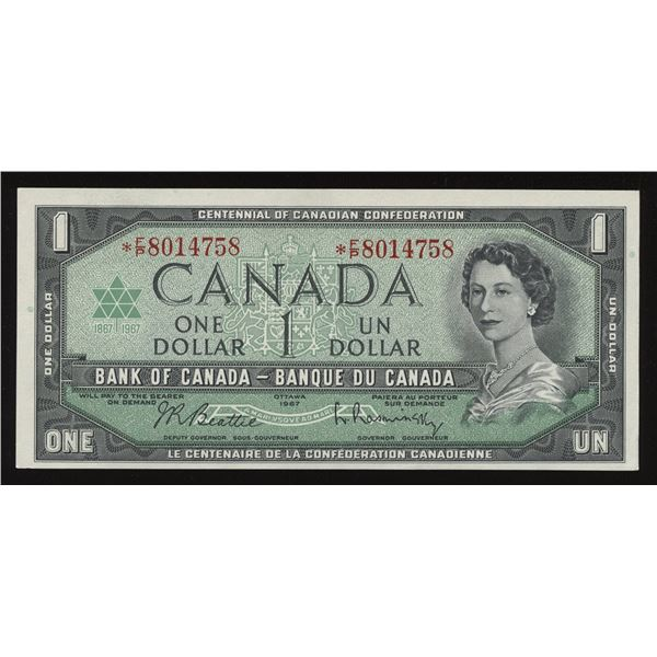 Bank of Canada $1, 1967 - *F/P Replacement