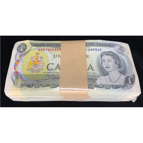 Bank of Canada $1, 1973 Uncirculated Brick