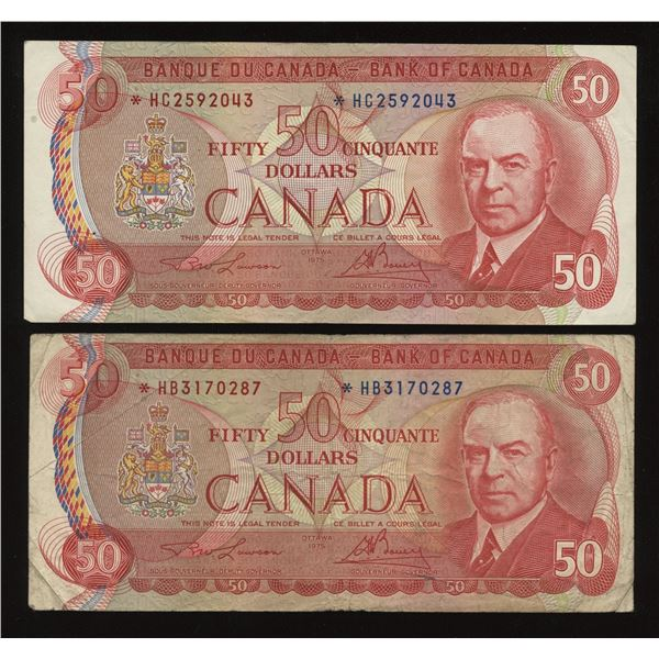 Bank of Canada $50, 1975 Replacement Lot