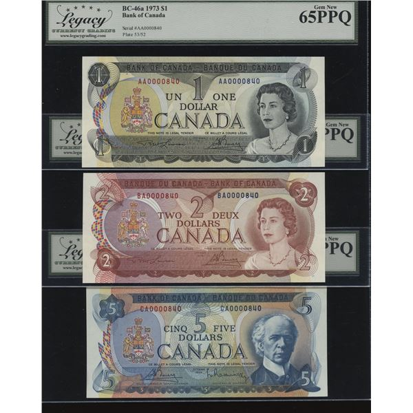 Bank of Canada - Legacy Graded Low Serial Numbered Set (#840)