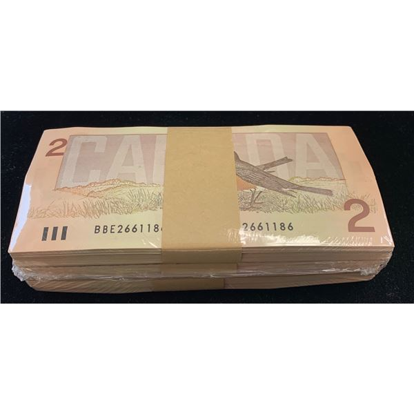 Bank of Canada $2, 1986 Uncirculated Brick
