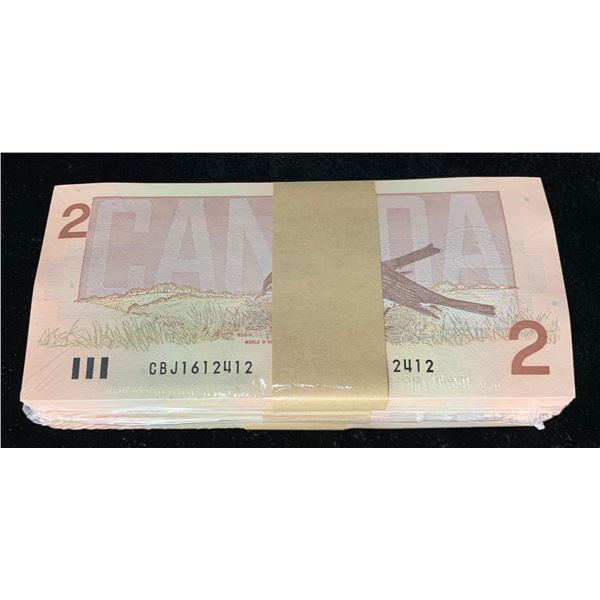 Bank of Canada $2 1986 Uncirculated Brick