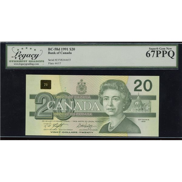 Bank of Canada $20, 1991 Transitional Prefix