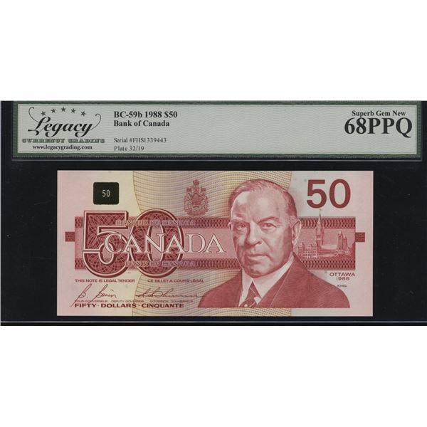 Bank of Canada $50, 1988 Transitional Prefix