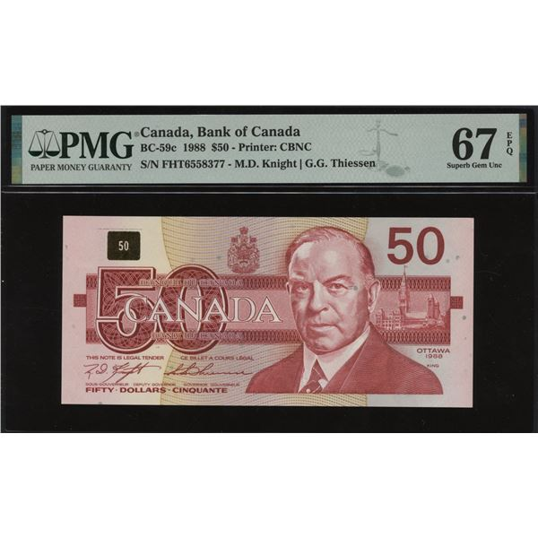 Bank of Canada $50, 1988