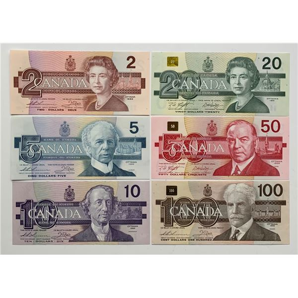 Bank of Canada Bird Series $2 - $100 Set