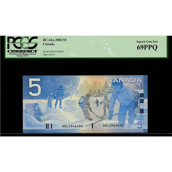Bank of Canada $5, 2002 Radar