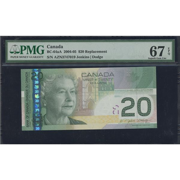 Bank of Canada $20, 2004-05