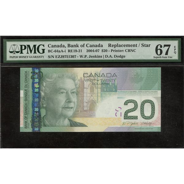 Bank of Canada $20, 2004-07 Replacement