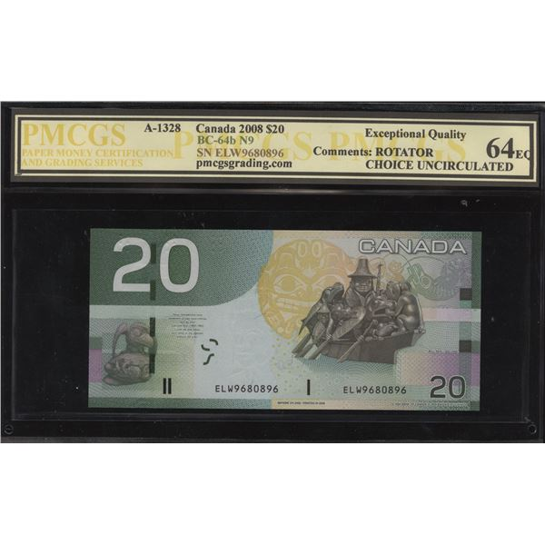 Bank of Canada $20,2008 Rotator/SWMS Note