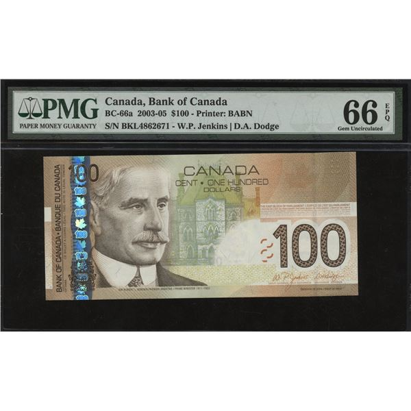 Bank of Canada $100, 2003-05
