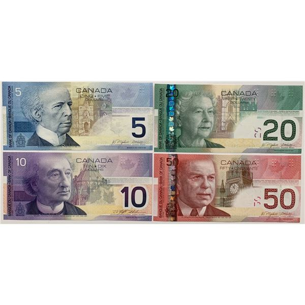 Bank of Canada $5 - $50 Journey Series Uncirculated Set