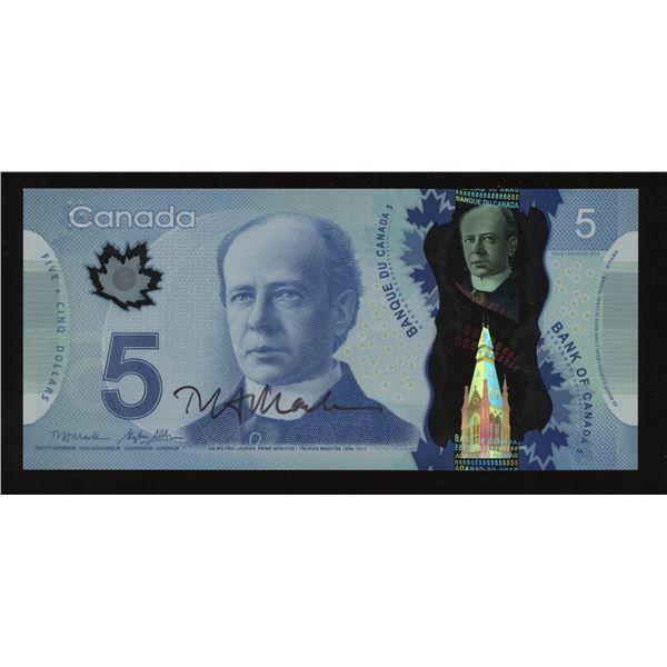 Bank of Canada $5, 2013 Macklem Autograph