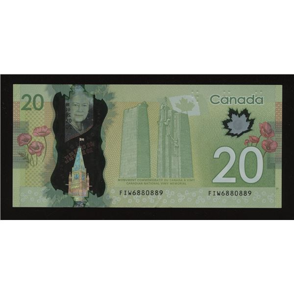 Bank of Canada $20, 2013 Rotator/SWIMS Note