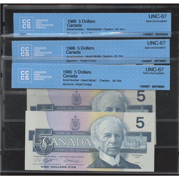 Bank of Canada CCCS Graded Lot + Bonus