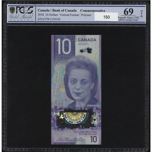 Bank of Canada $10, 2018