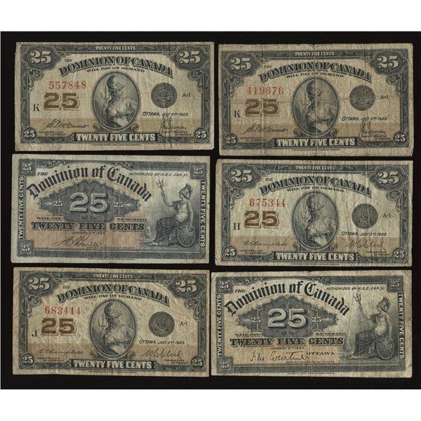 Dominion of Canada Twenty-Five Cents, 1900 & 1923 Lot