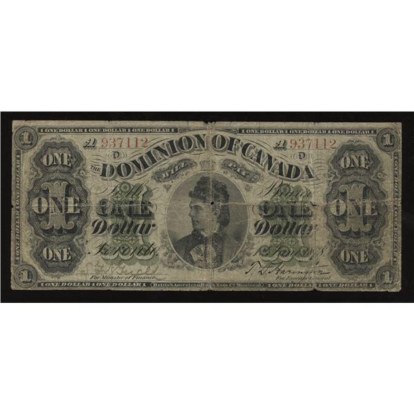 Dominion of Canada $1, 1878