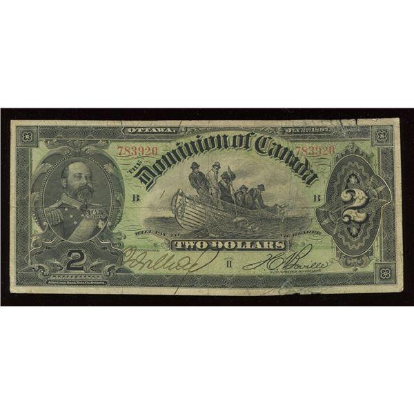 Dominion of Canada $2, 1897