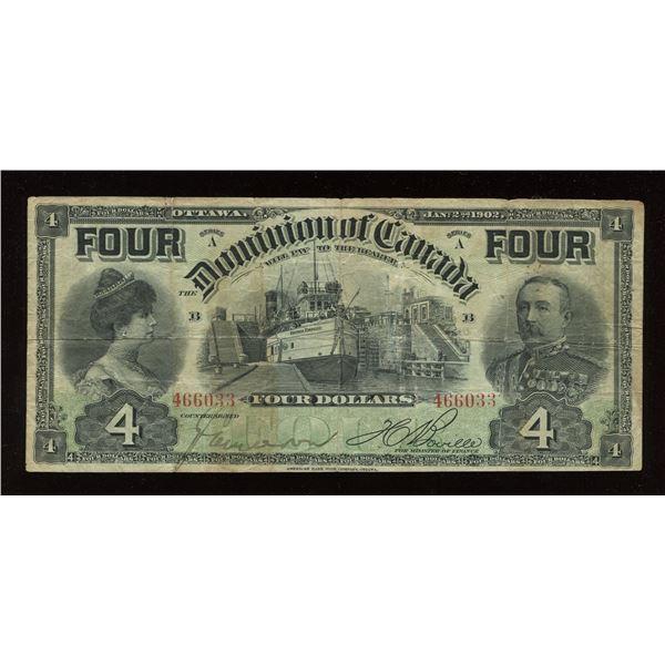 Dominion of Canada $4, 1902