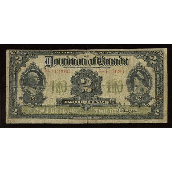 Dominion of Canada $2, 1914