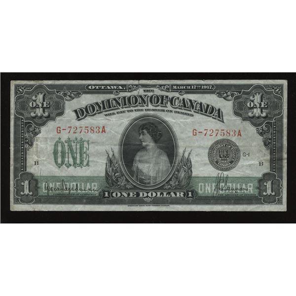 Dominion of Canada $1, 1917