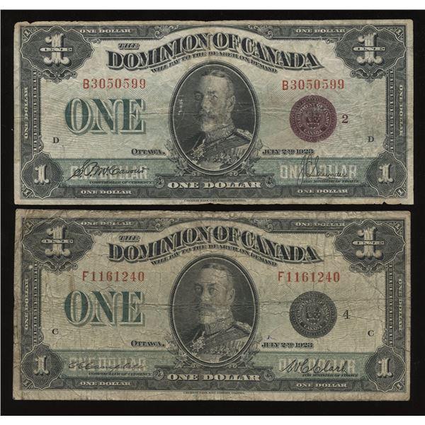 Dominion of Canada $1, 1923 Lot