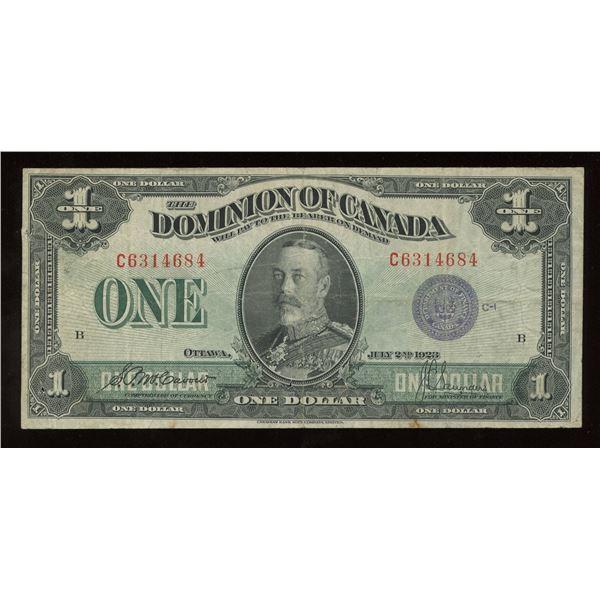 Dominion of Canada $1, 1923