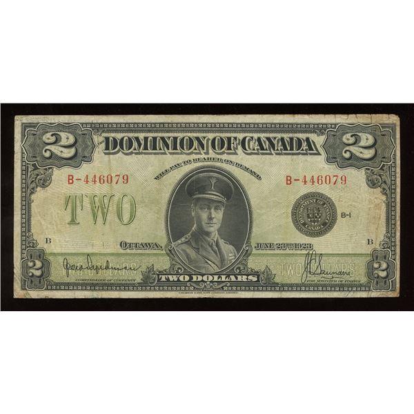 Dominion of Canada $2, 1923