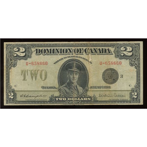 Dominion of Canada $2, 1923