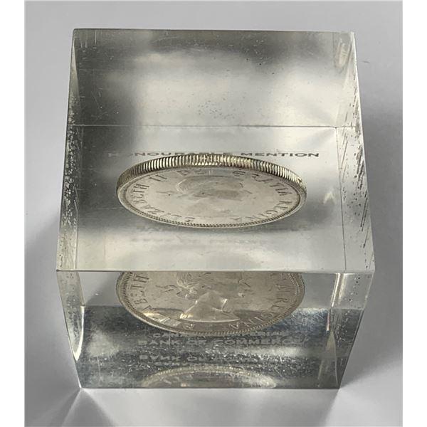 CIBC Canada 1961 $1 Silver Lucite