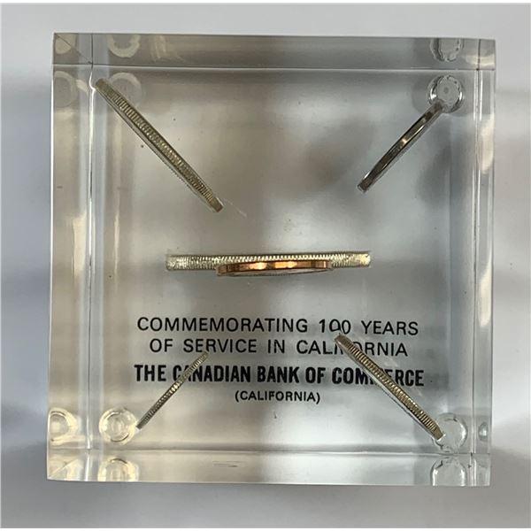 CIBC Canada 1964 Silver PL Set in Lucite in presentation box