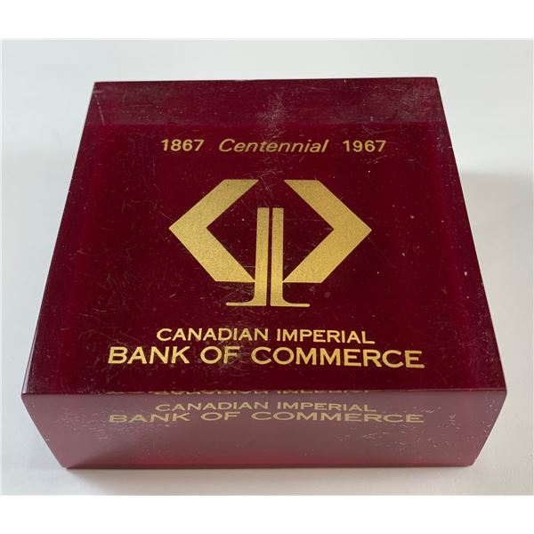 CIBC Executive Paper Weight 1967