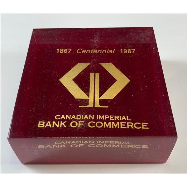 CIBC Executive Paper Weight 1967