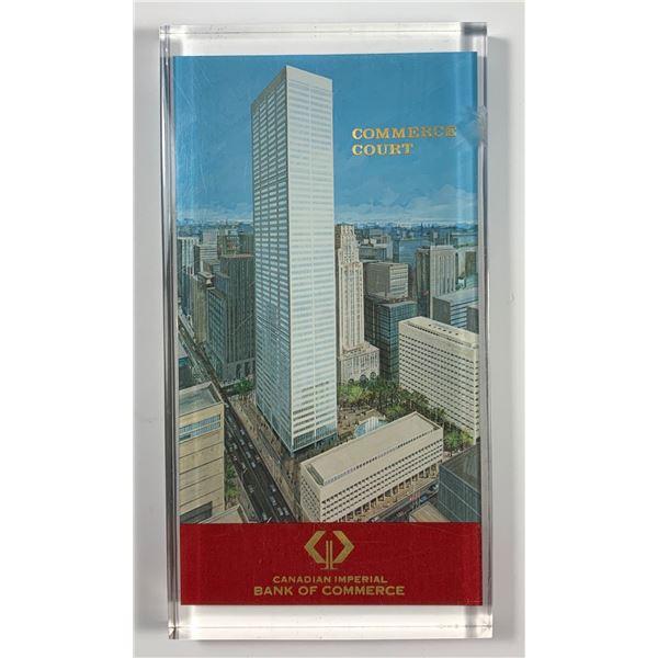 CIBC Commerce Court Tower Lucite Commemorative