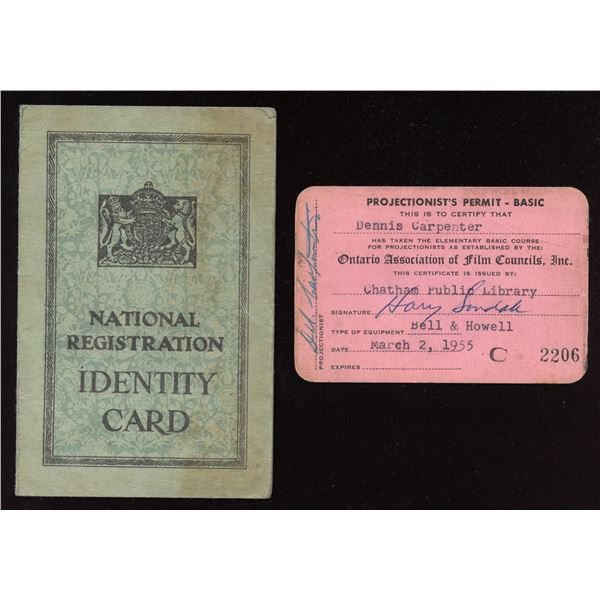 Identification Cards for Mr. Carpenter