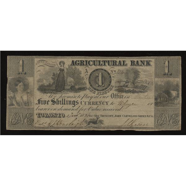 Agricultural Bank $1 1836