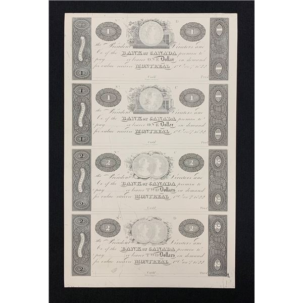 Bank of Canada, Montreal, Graphic Issue of 1-Jan-1822