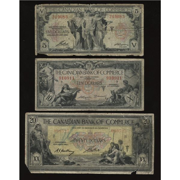 Canadian Bank of Commerce Banknote Lot